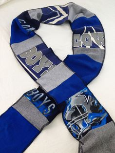 Dallas Cowboys upcycled tshirt scarf multicolor by ginsnappity 431c64300