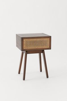 Bedside table in FSC-certified meranti wood and MDF with a drawer that has a rattan front. Cane Furniture, Furniture Decor, Casa San Sebastian, H & M Home, Home Remodeling Diy, Sideboard Cabinet, Assemblage, Luxury Homes Interior, Interior Design