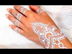 ᴴᴰ White Henna Art Beautiful Designs Fantasy Inspired Henna Designs Easy, Mehndi Designs, Simple Designs, White Henna, Editor, Cuff Bracelets, Henna Ideas, Fantasy, Wedding White
