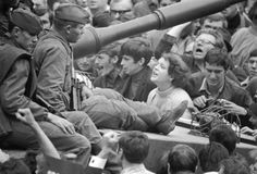 Poor tank crews 1968 They had been told they were there to fight a German nazi invasion Marie Curie, Mahatma Gandhi, Steve Jobs, Prague Spring, Einstein, Magnum Photos, Street Signs, Cold War, Eastern Europe