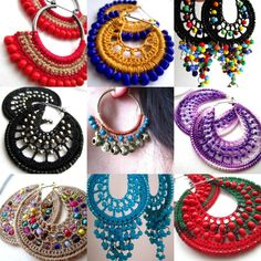 Crochet earrings with beads - inspiration only