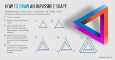 A step-by-step guide to #drawing impossible shapes.