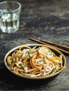 Sesame Chicken Noodles - The Happy Foodie