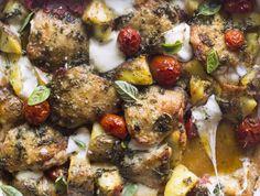 Italian chicken bake with herb vinaigrette recipes Italian Baked Chicken, Baked Chicken Recipes, Fish Recipes, Baking Recipes, Whole Food Recipes, Healthy Recipes, Delicious Recipes, Scd Recipes, Meal Recipes