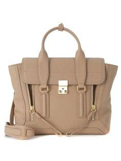 3.1 PHILLIP LIM Borsa A Mano 3.1 Phillip Lim Pashli Medium Satchel In Pelle Pregiata Martellata Nocciola. #3.1philliplim #bags #hand bags #satchel #