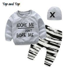 Bib Hat Sikye 5Pcs Newborn Baby Gift Outfit Set Newborn Girl Boy Cartoon Lovely Button Top 2PC Pants 0-3 Months