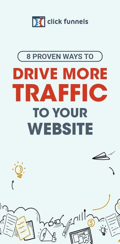 With more website traffic comes more leads, more conversions, and more sales. Here, you'll learn 8 proven strategies to drive consistent traffic to your website. Ready to get started? Find out how here! #salesfunnels #clickfunnels #websitetraffic Sales And Marketing, Business Marketing, Online Marketing, Party List, Social Media Management Tools, Sales Process, Your Website, Google Ads, Seo Tips