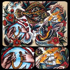 Paul Simon Kelu Traditional Tattoo Painting, Traditional Tattoo Design, Cross Tattoos For Women, Tattoo Flash Art, Best Artist, Tattoo Artists, Old School, Tattoo Designs, Art Pieces