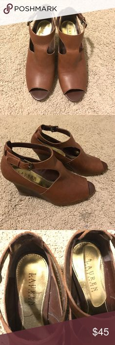 🇺🇸🎊Ralph Lauren Cut Out Wedges Ralph Lauren Cut Out Wedges Lauren Ralph Lauren Shoes Wedges
