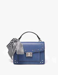 Crossbody satchel bag with scarf - Just in | Stradivarius Finland - Winter Sale