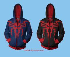 Spiderman 2099 (Miguel O'Hara) Hoodie Concept by prathik.deviantart.com on @deviantART