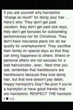 Proud hairstylist <3