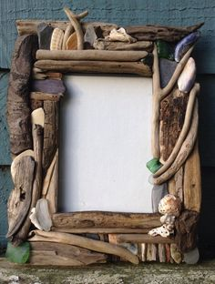 how to make a driftwood picture frame - Google Search