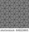 Seamless geometric pattern in op art design. Vector art. by troyka, via ShutterStock