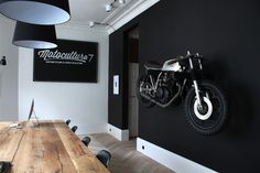 rhubarbes: SHOWROOM / Motocultura7. More motorcycle lifestyle. More Interior design here.