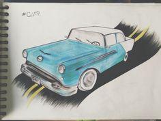 Drawing's car