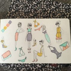 Fashion doodles and sketches