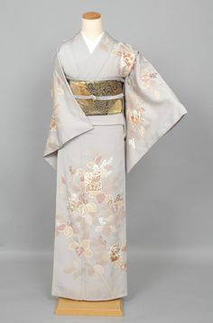 ee9af3089 Gentle Pastle Houmongi with Tree Branch and Leaf Design Traditional Kimono,  Traditional Outfits, Express