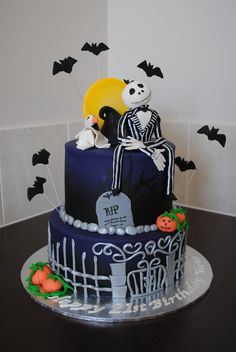 Nightmare Before Christmas Cake for a 21st