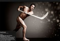 Here's Brad Richards posing nude for ESPN The Magazine's Body Issue. Old Brad would have never done this photo shoot, he has really changed since becoming a Ranger. I think thats a good thing though, he used to be so painfully shy when he was young and in Tampa.