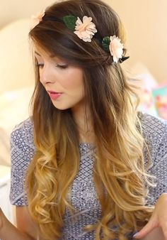 http://stealherstyle.net/wp-content/uploads/2013/09/zoella-hair-flower-crown.jpg #zoella #sugg