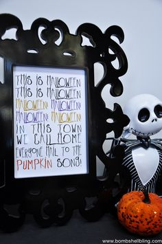 """This spooky free printable is based on the song """"This is Halloween"""" from The Nightmare Before Christmas. PERFECT for Halloween decorating!"""
