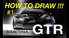 HOW to DRAW and RENDERING - #1 NISSAN GTR - desenho industrial automobil...