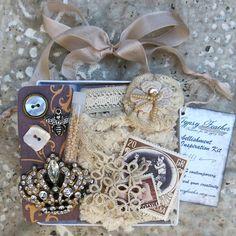 Embellishment Inspiration Kit Box 41 ... Cream by GypsyFeather