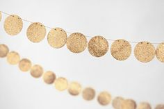 Gold 10 ft Glitter by  at minted.com