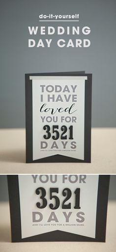 """DIY """"Today I Have Loved You For..."""" Card + with free printable and easy steps!"""