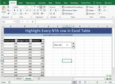 Highlight Every Nth Row In Excel Tables How To Pakaccountants Com Excel Excel Hacks Excel Macros