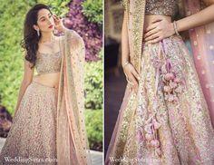 Bridal details - Sabyasachi lehenga at WeddingSutra on Location #weddingsutra #bridallehenga #lehenga #Indianbride #Indianoutfit #bridallook #weddingideas #pink #gold #sabyasachi