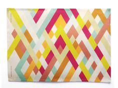 avril loreti tea towel: lattice
