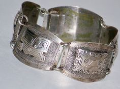 Vintage Ethnic 900 Silver Detailed Aztec by TheButterflyBoxdeitz, $55.00