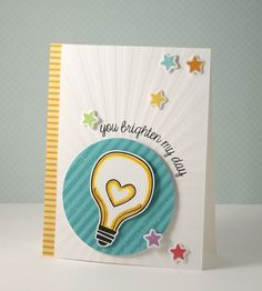 Lawn Fawn - Your Future is Bright, Summertime Charm stamps and dies _ You brighten my day by yainea, via Flickr