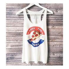• Pizza Tank • Vote Pizza! Super comfy, light and loose graphic tank. Recommend going with your normal size.    65% rayon, 35% polyester  No trades. Price firm.   ↓Follow me on Instagram ↓         @ love.jen.marie Jennifer's Chic Boutique Tops Tank Tops
