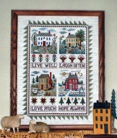 Live Well, Laugh Often - Cross Stitch Chart
