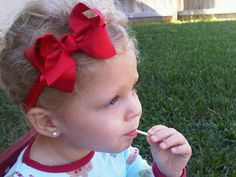ReD Bow  Fits All Ages  attached to matching by SparklingTwinkies, $6.95
