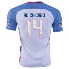 2016 USA Soccer Team CHICAGO #14 American Outlaws Home Replica Jersey [E29]