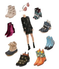 """""""Trendy Booties..**"""" by yagna ❤ liked on Polyvore featuring Toga, Rebecca Minkoff, Maison Margiela, Steven by Steve Madden, Jeffrey Campbell, SOREL, Joie, Valentino, Kendall + Kylie and Steven"""