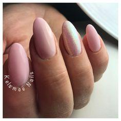Baby pink and mermaid nails