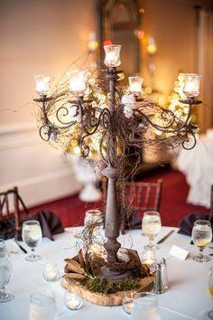 brown rustic candelabra