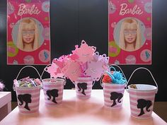 You have to check out the whole Barbie themed birthday party! I would have loved to have had this as a little girl :)