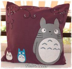 Totoro, Totoro Cushion, Totoro pillow, Totoro cushion, purple cushion on Etsy, $25.60