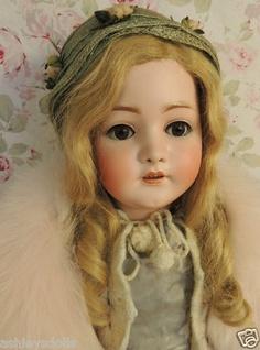 """26"""" Franz Schmidt S #269 Antique German Bisque Doll, Breather, Original Dress"""