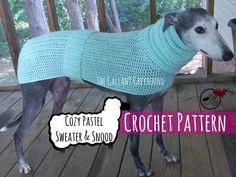 Cozy Pastel Greyhound Sweater Crochet by TheGallantGreyhound