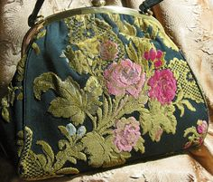 Vintage Chenille Carpet Handbag by Rosenfeld by TheEclecticDiva, $52.00