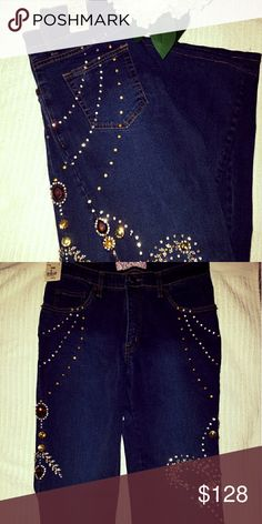 jeans Very very lovely studded Sassy Jeans , Norelly trades or pay pal Marshall Rousso Pants Straight Leg