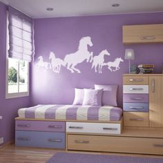 Horse-Montage-Animal-Vinyl-Sticker-Wall-Art-Graphics