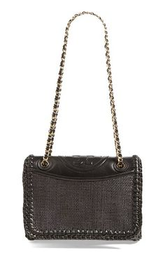Tory Burch 'Fleming - Medium' Woven Shoulder Bag available at #Nordstrom